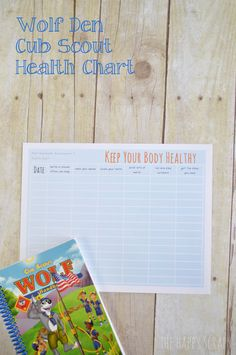 Cub Scout Health Chart--Wolf Achievement 3