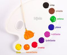 Learn the the names for the most common colours in Croatian, and then test yourself with our vocabulary trainer! Croatian Language, Serbo Croatian, Creative Activities For Kids, Learn A New Language, Languages, Vocabulary, Names, Culture, Learning
