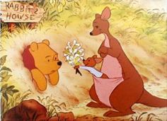 "Pooh: ""HONEY-suckles"" Kenga: ""No, pooh. You don't eat them. You smell them."" lol!"