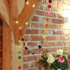 Rainbow Felt Mini Heart Garland for £5.00 at www.lisaangel.co.uk