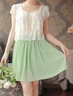 $10.19 Fresca Ladylike V-Neck Layered Ruffles Hem Chiffon vestidos plissados…