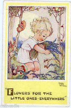 Mabel Lucid Attwell: Flowers for the little ones - everywhere