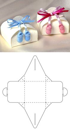 Cuvy Baby - - Diy gift For Kids Ideen - Geschenke Candy Gift Box, Paper Gift Box, Paper Gifts, Candy Boxes, Candy Gifts, Moldes Para Baby Shower, Paper Box Template, Diy Gift Box Template, Box Templates