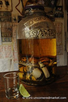 Gail maybe you can bring this to the river this year?   Snake moonshine  yuck ! for real ?