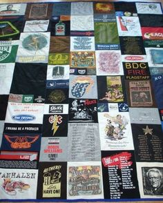 This one DOES show you (great details) how to make a T-shirt quilt!!! I will use these directions when I am ready to work.