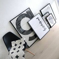'G' poster by Playtype, 'Personality' by Ylva Skarp, 'Holstee Manifesto'. Purchase These Stunning Prints Online at Pop Motif.. http://popmotif.co.nz/collections/scandinavian-style-art