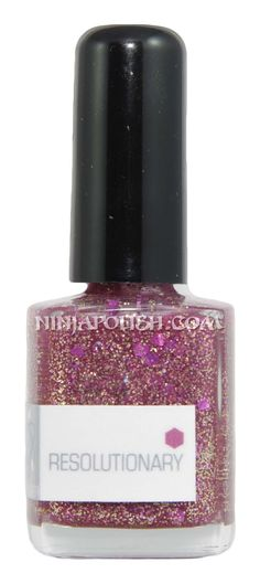 Ninja Polish: NerdLacquer - Resolutionary, from the IRC-ing Sparklies collection