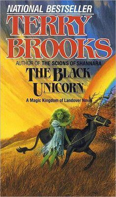 The Black Unicorn (Magic Kingdom of Landover by Terry Brooks (Goodreads Author) Cool Books, Sci Fi Books, I Love Books, Books To Read, My Books, Fantasy Authors, Fantasy Books, Fantasy Art, Science Fiction Books