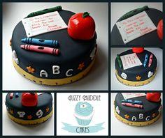 School / Teacher cake www.facebook.com/fuzzymuddlecakes