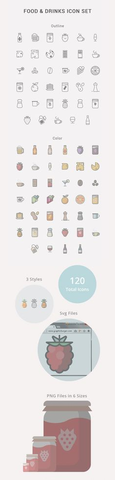 Food & Drinks Icon Set by Iconshock