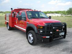 MELROSE VOLUNTEER FIRE DEPARTMENT NACOGDOCHES, TX  2010 Ford Crew Cab, 4x4, Ford Red
