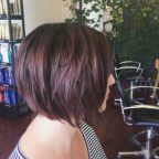 Smokey violet textured bob by Becky Cole