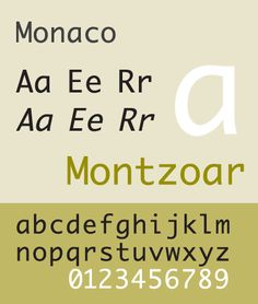 Monaco is a free and usable system font. See this specimen, sample for it's style. Selection: www.rotterdam-vormgeving.nl