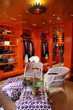 Tory Burch in NY. Orange closet? I could do.