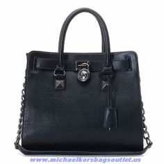 Michael Kors Hamilton Large Pebbled Tote Black