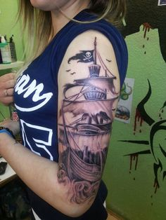pirate ship tatoo :D - my own black pearl More