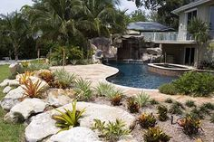 Pool renovation with spa pool by Lucas Lagoons in Sarasota, Florida