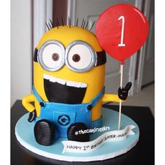 Minion First Birthday Cake