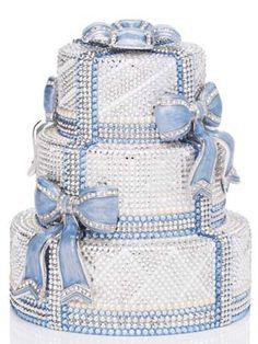 Judith Leiber wedding cake crystal Clutch handbag