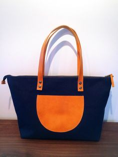 Self Made Canvas Leather Tote Bags