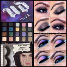Urban decay vice 2 palette and Katy perry lashes in oh my! - follow Instagram beautybytk