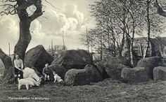 Old photograph of 'hunebedden', Midlaren, Holland