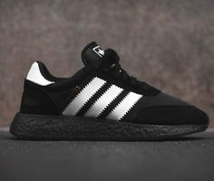 Adidas A modern streetwear sneaker that's styled to look like retro running men's shoes Adidas Iniki, Adidas Sneakers, White Sneakers, Addias Shoes, Shoes Men, Stylish Mens Fashion, Dope Fashion, Fashion Trends, Fashion 2018
