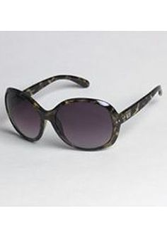 9ad68403365e Kardashian Kollection Oversized Round Vintage Sunglasses With Stud Detailing