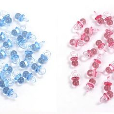 Gender reveal 144 Mini Pacifiers Baby Shower Clear BLUE PINKAcrylic Charms Sprinkle Games Table Scatter Decoden Cabochon inch x inc by on Etsy Baby Shower Table, Baby Shower Favors, Baby Shower Games, Gender Reveal Balloons, Baby Shower Gender Reveal, Spice Girls, Sprinkle Games, Fete Halloween, Pink Acrylics