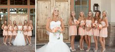 Rustic Wedding |Coral | with brown cowgirl boots boys in camo vests and jeans ??????
