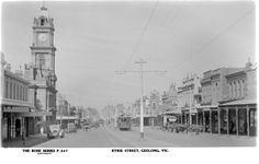 Ryrie Street Geelong in the days when trams existed there.