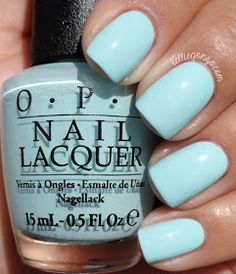 OPI Gelato on My Mind // it looks like a Tiffany blue