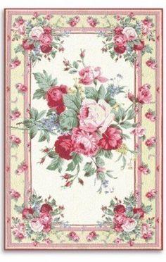 Pink Floral Wallpaper Bedroom Vintage Roses 33 Ideas For 2019 Vintage Diy, Vintage Rosen, Vintage Paper, Vintage Images, Shabby Chic Rug, Shabby Chic Furniture, Decoration Shabby, Etiquette Vintage, Ideias Diy