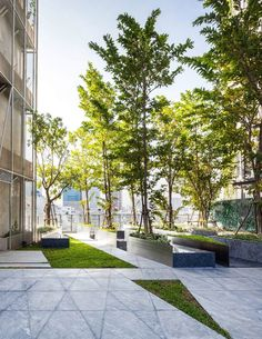 Gallery of Siamese Ratchakru / Creative Crews – 10 - All For Garden Home Depot Landscaping, Commercial Landscaping, Tropical Landscaping, Modern Landscaping, Landscape And Urbanism, Park Landscape, Landscape Edging, Urban Landscape, Urban Design Concept