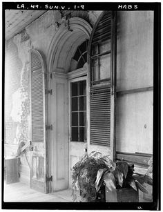 9.  Historic American Buildings Survey Richard Koch, Photographer August, 1936 DETAIL OF ENTRANCE DOOR - Chretien Point Plantation, Sunset, St. Landry Parish, LA