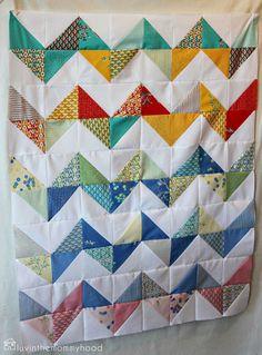 Simple chevron quilt pattern