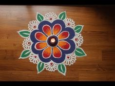 Rangoli Designs with Colours by Shital Daga, Easy and Simple Rangoli Designs,Diwali rangoli designs Easy Rangoli Designs Diwali, Rangoli Simple, Simple Rangoli Designs Images, Rangoli Designs Latest, Rangoli Designs Flower, Free Hand Rangoli Design, Rangoli Border Designs, Small Rangoli Design, Rangoli Patterns