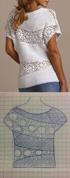 knitting pattern blouse summer...♥ Deniz ♥