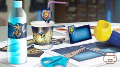 kostenloses Geburtstagsset für ein Nexo Knight Motto auf dem Kindergeburtstag. Beinhaltet Muffinförmchen, Tischläufer, Wimpelgirlande, Namensschilder, etc.