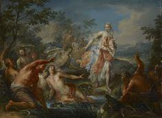 Leto convierte en ranas a los campesinos licios, ca. 1730.  Johann Grorg Platzer (1704-1761)