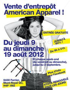 Vente d'entrepôt American Apparel « lesventes.ca