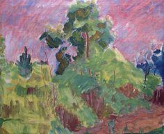 Thorvald Erichsen (Norwegian, Red Sky at Holmsbu, Oil on canvas, 46 x 54 cm Lillehammer, Trondheim, Artist Painting, Oslo, Norway, Oil On Canvas, Museum, Fine Art, Artwork