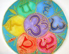 Arte de mandala del chakra azul don por HeavenOnEarthSilks en Etsy