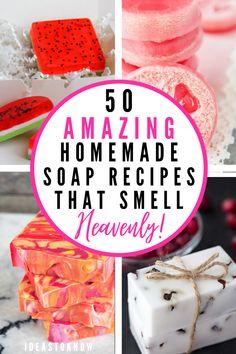 Handmade Soap Recipes, Soap Making Recipes, Handmade Soaps, Diy Soaps, Diy Soap Easy, Make Soap, Soap Making Kits, Homemade Soap Bars, Homemade Gifts