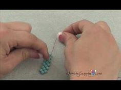 How to create a Double Needle Right Angle Weave - Beading - YouTube
