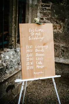 Wooden wedding signage on easel Wilton Castle, Leap Of Faith, Crossed Fingers, Wedding Signage, Some Words, Real Weddings, Best Quotes