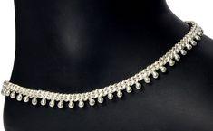 20 Latest Silver Payal Designs - ArtsyCraftsyDad Payal Designs Silver, Silver Anklets Designs, Silver Payal, Anklet Designs, Gold Jewellery Design, Gold Jewelry, Diamond Jewellery, Gold Jhumka Earrings, Anklet Bracelet