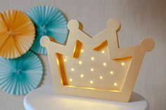 Crown lamp Night light Crown lamp Night light Kids lamp Baby shower Lamp Crown LED wooden Battery Operated Light Crow nursery Baby girl nursery