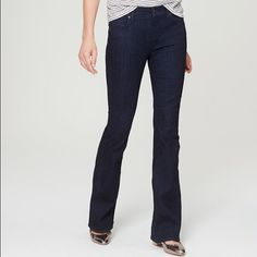"""Flare Jeans The Loft by Ann Taylor. Flare jeans in dark rinse wash. 43"""" from waist to hem. NWT. Ann Taylor Jeans Flare & Wide Leg"""