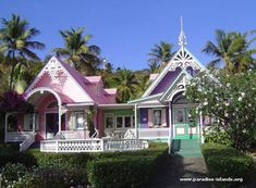 Mustique Island Caribbean | Gingerbread Houses on Mustique Island